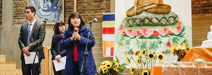 comunidad budista en chile realizó donación a nuestro comedor