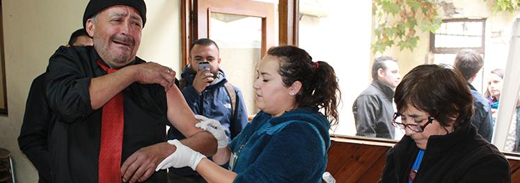 participamos en campaña de vacunación para personas en situación