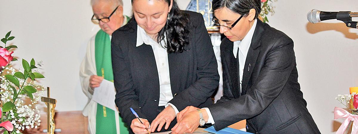 Un especial Día para la Provincia: Ingreso al Noviciado de María Fernanda Apablaza